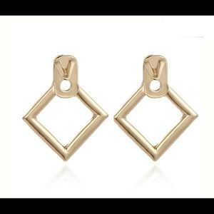 3/$30 Gold Hollow Diamond Shape Earrings